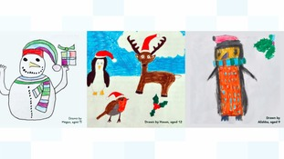 Some of the Christmas card designs