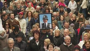 More than 6,000 people marched through the streets after PC Hocking's funeral.