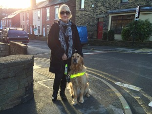 Sue says Sheffield's streets are difficult to navigate due to cars parked on the pavement