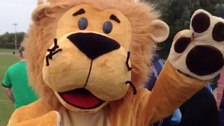 A mascot gets the crowds going at the Diabetic Games
