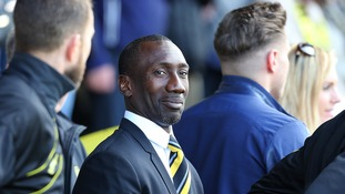 Jimmy Floyd Hasselbaink takes over as QPR manager and conducts first training session