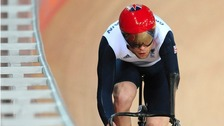 Great Britain's Jon-Allan Butterworth during a training session at the Velodrome