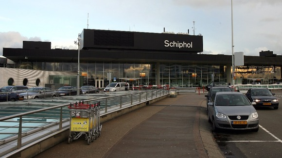 File image of Schiphol airport in Amsterdam