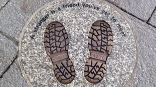 It is that hoped PC Hocking's boot prints will act as a permanent reminder of him to the people of Falmouth.