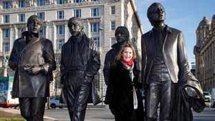 New Beatles statue on Liverpool waterfront