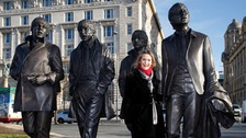 John Lennon's sister Julia Baird unveils the statue