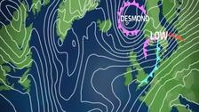 Storm Desmond chart