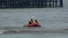 Crews searching the Irish sea