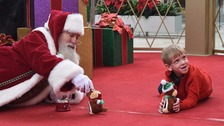 Santa Boy with Autism