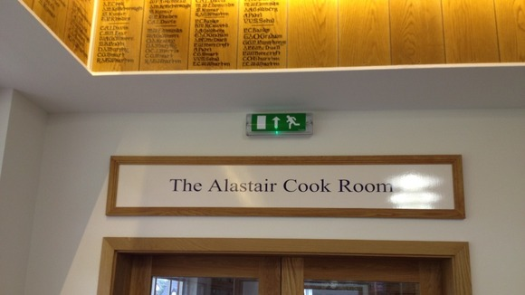 The Alastair Cook Room at the Bedford School