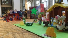 Hundreds of cribs on display in Wells