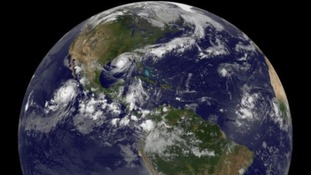 Even from high above the Earth, Hurricane Isaac is still clearly visible as it heads the US Gulf