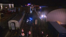 A train crash was mocked up in Paignton