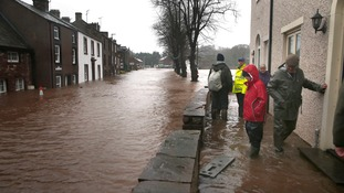 Residents evacuate their homes in Appleby in Cumbria