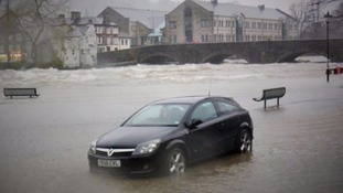 A stranded car in Kendal