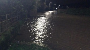 Flooding at Warwick Bridge