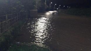 Flooding at Warwick Bridge
