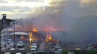 The fire left the pub severely damaged