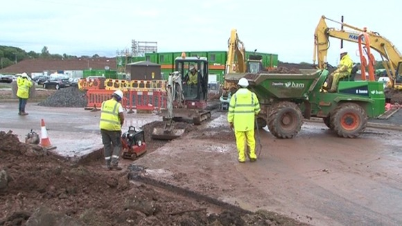 First foundations being laid at new business estate
