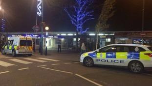 Police outside Leytonstone tube station