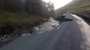 Road between Grasmere and Keswick destroyed