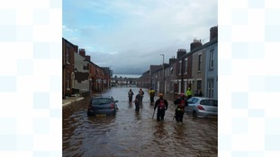 Specialist swiftwater rescue and water search technicians have been working in Cumbria.