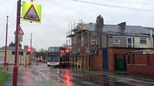 The double-decker bus was stolen from a depot in Ashton-under-Lyne in the early hours of Saturday morning