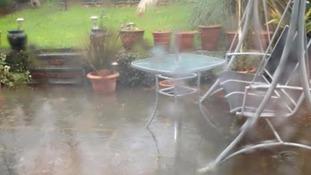 Garden is flooded