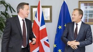 President of the European Council, Donald Tusk and David Cameron