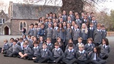 "Schoolchildren from St Paul's Primary School reworked the Proclaimers' classic hit ""I'm Gonna Be (500 Miles)"""