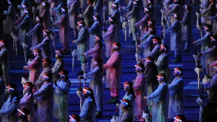 Performers during the Opening Ceremony.