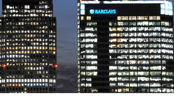 Barclays Bank at Canary Wharf, London