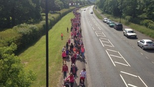 Road safety march