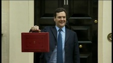George Osborne with his Budget briefcase