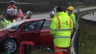 North Wales gridlock as A55 closes for air ambulance