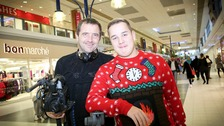 Film maker Mark Haigh with Ryan Drury