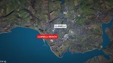 Llanelli beach map