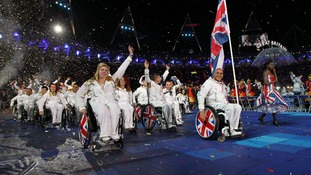 Moments of glory at the Paralympic ceremony