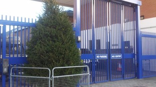 'Kettled by police', is this London's most depressing Christmas tree?