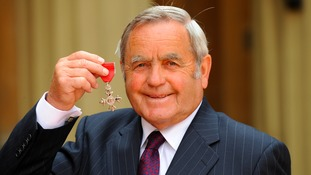 Alan Hodgkinson collecting his MBE in 2008