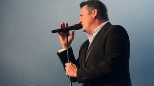 ony Hadley of Spandau Ballet performing at the Henley festival