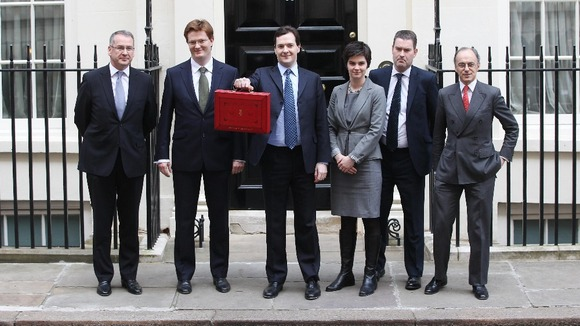 Treasury ministers outside 11 Downing Street