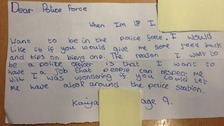 Kaiya, 9, wrote to officers at Greater Manchester Police asking for tips on how to be a police officer