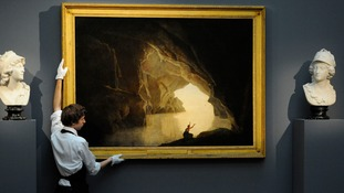 'A Grotto in the Gulf of Salerno With The figure Of Julia, Banished From Rome' by British artist Joseph Wright