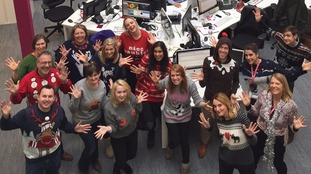 Getting into the Text Santa spirit... Merry Christmas Jumper Day from ITV West Country.