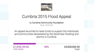 The Cumbria 2015 Flood Appeal website