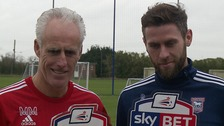 Ipswich manager Mick McCarthy & striker Daryl Murphy with their awards