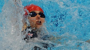 Nyree Kindred MBE in action during the women's 100m backstroke S6 heats