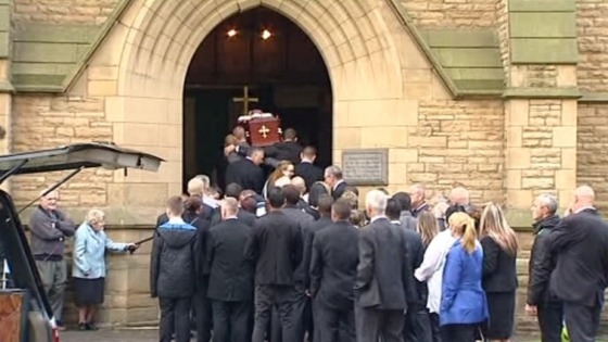 Family and friends came to say their goodbye to Winnie Johnson, who died earlier this month.