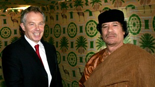 Tony Blair quizzed by MPs over his relationship with Gaddafi's Libya